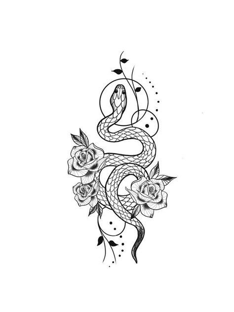 Rose n Snake Tattoos- Snake Tattoo- Flower Tattoos - Rose
