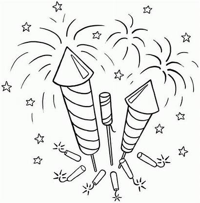 Fireworks Coloring Pages July 4th Printable Colouring
