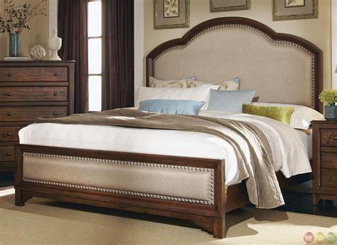 upholstered bedroom set upholstered headboard laughton rustic bedroom set