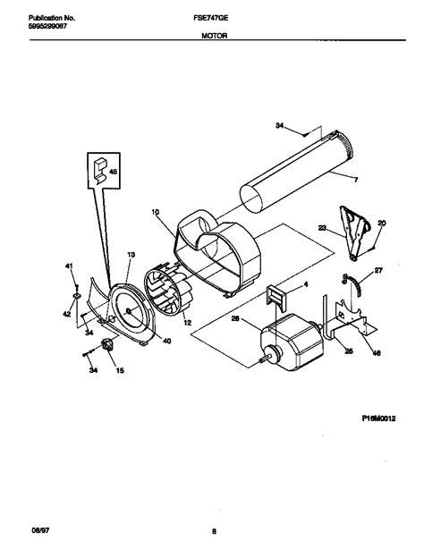 frigidaire dryer controls top panel parts fse747ges1 searspartsdirect