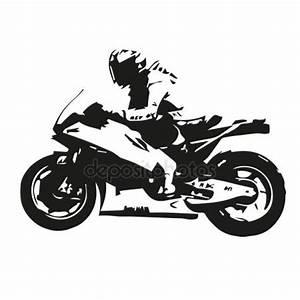 Motorcycle racing silhouette, motorbike vector ...
