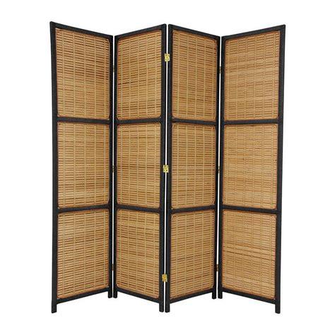 foldable room divider shop oriental furniture room dividers 4 panel black folding indoor privacy screen at lowes com