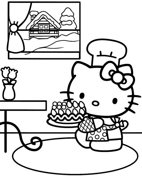 kitty coloring pages  print coloring pages