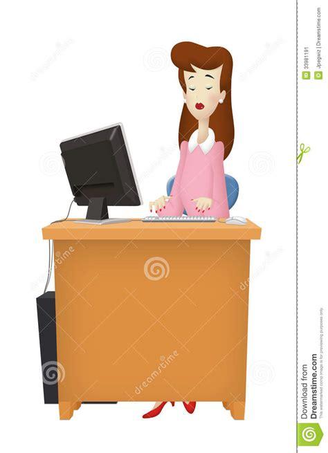 femme bureau bureau de femme image stock image 33981191