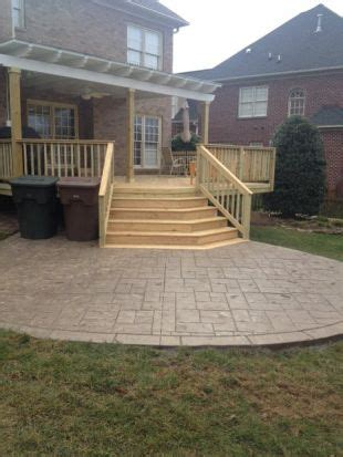 best 25 concrete deck ideas on wood sted