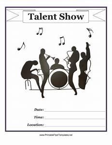 talent show program template word talent show flyer