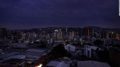 venezuela power outage leaves   country  dark