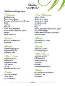 indian wedding catering menu ideas