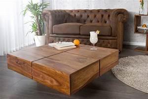 Table Bois Massif Brut : table basse carr e bois massif le bois chez vous ~ Teatrodelosmanantiales.com Idées de Décoration