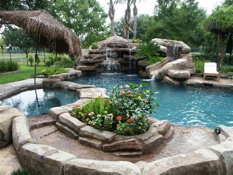 katy water features  houston waterfalls raised spas