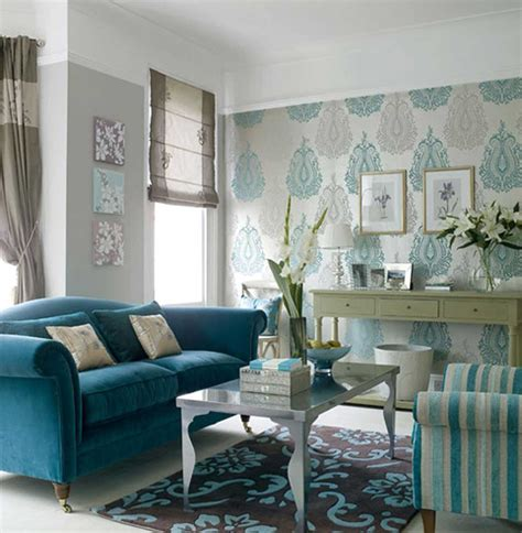 wallpaper for livingroom inspiring blue wallpaper small living room decosee