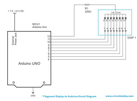 Arduino Seven Segment Display Interfacing