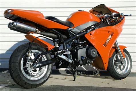 110cc 4 Stroke Honda Clone Engine Orange Mini Pocket Bike