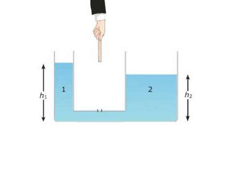 teoria dei vasi comunicanti teoria i vasi comunicanti ruffo zanichelli