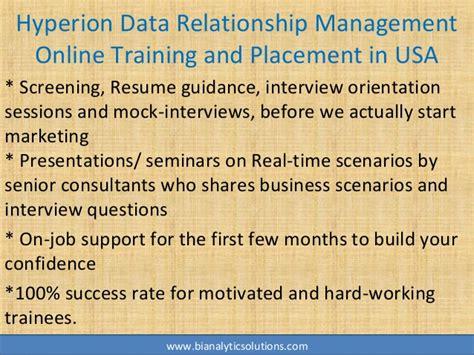 hyperion data relationship management  training