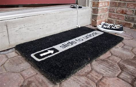 Slide To Unlock Doormat by Cheaper Than A Shrink