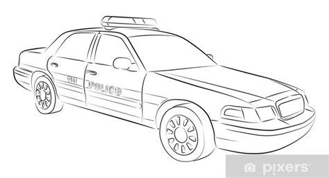 sticker tekening van politie auto pixers  leven om