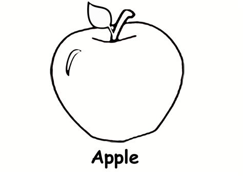 printable apple coloring pages  kids coloring book pages apple coloring pages