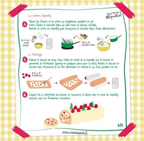 recette de cuisin recette bûche chocolat blanc framboises