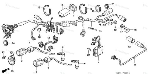 Honda Motorcycle Oem Parts Diagram For Wire Harness
