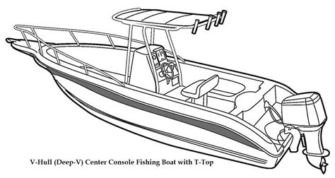 How To Draw A Speedboat by Fishing Boat Clipart Center Console Pencil And In Color