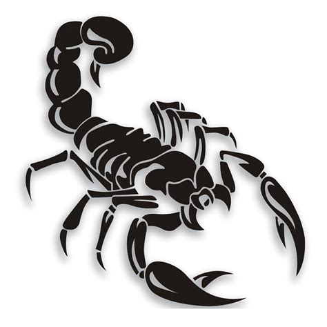 cool vinyl stickers cool reflective sticker scorpions car stickers vinyl waterproof art decals black ebay