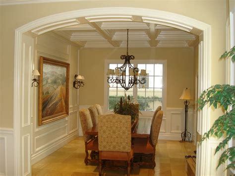 coffered ceiling trim work wainscot mouldings panels coffered ceilings pinterest