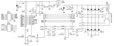 High Current Bipolar Stepper Motor Controller Electronic