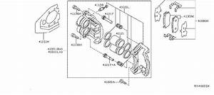 Nissan Pathfinder Disc Brake Caliper Guide Pin Bolt  Disc