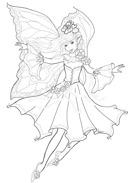 fantasy character Fairy coloring pages Fairy coloring