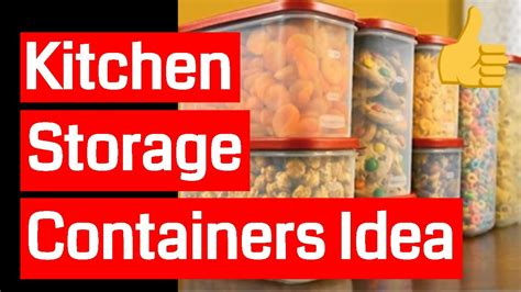 Kitchen Storage Containers  Youtube