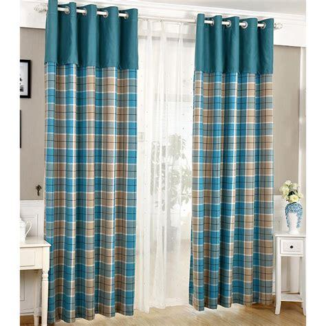 blue plaid curtains united curtain co blue plaid window