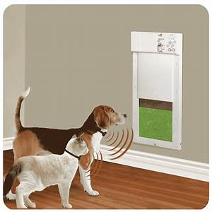 Sale electric pet door keeps out raccoons stray animals for Dog doors for sale