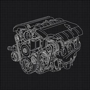Car Blueprint Free Vector Art