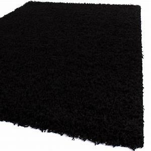 Hochflor Teppich Schwarz : bettumrandung l ufer shaggy hochflor langflor teppich in schwarz l uferset 3 tlg alle teppiche ~ Indierocktalk.com Haus und Dekorationen