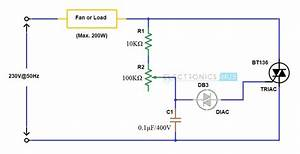 Temperature Controlled Fan Regulator Circuit Diagram