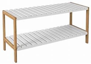 Schuhregal Holz Weiss : holz schuhregal schuh regal bambus schuhschrank real ~ Markanthonyermac.com Haus und Dekorationen