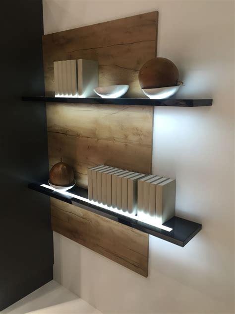 Floating Shelves With Lights Roselawnluth On Lighted Back