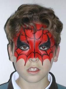 Maquillage Halloween Enfant Facile : maquillage d 39 enfant pour le carnaval spiderman trucs ~ Nature-et-papiers.com Idées de Décoration