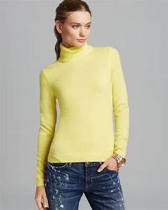 Bloomingdales Size Chart Lyst C By Bloomingdale 39 S Cashmere Turtleneck In Yellow