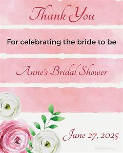 24 favor tag templates free sample example format With bridal shower favor tags template