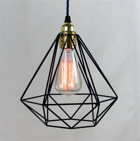 cage pendant light ceiling light bulb and