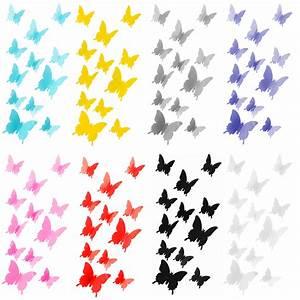 3d Schmetterlinge Wand : schmetterlinge in 3d wandsticker wand dekoration deko wandtattoos w hlbar ~ Whattoseeinmadrid.com Haus und Dekorationen