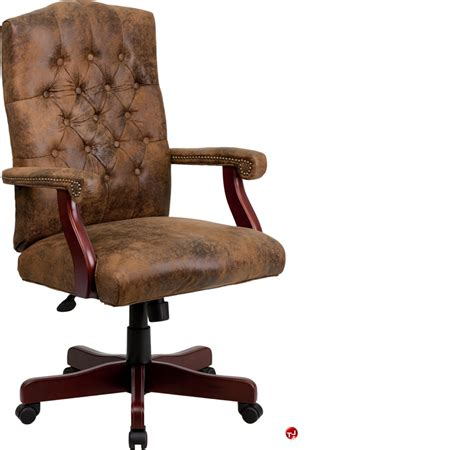 the office leader brato high back traditional brown