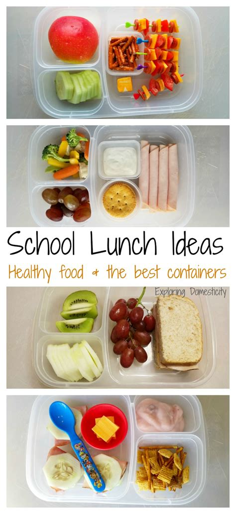 School Lunch Ideas Healthy Foods And The Best Containers