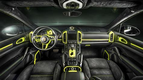 Custom Porsche Interior by Does This Custom Porsche Cayenne S Interior Make You Green