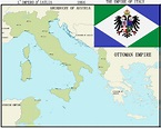 The Empire of Italy, unified by the Habsburg Kingdom of ...