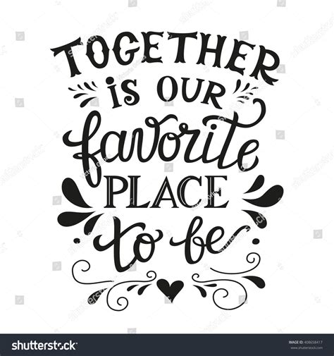 hand lettering typography family poster romantic stock vector 408658417 shutterstock