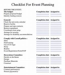 Event planning checklist 7 download free documents in pdf for Event planning to do list template