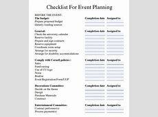 Event Checklist Template Excel calendar template excel